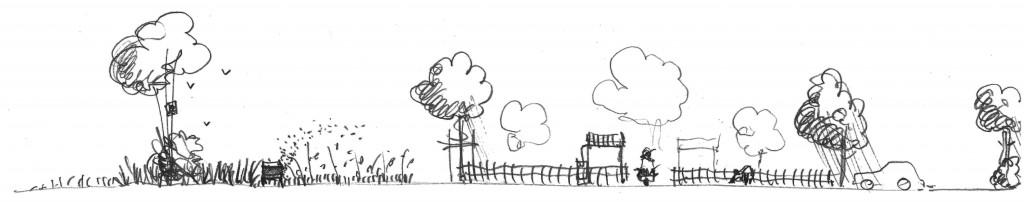 coupe sur les jardins potagers collectifs