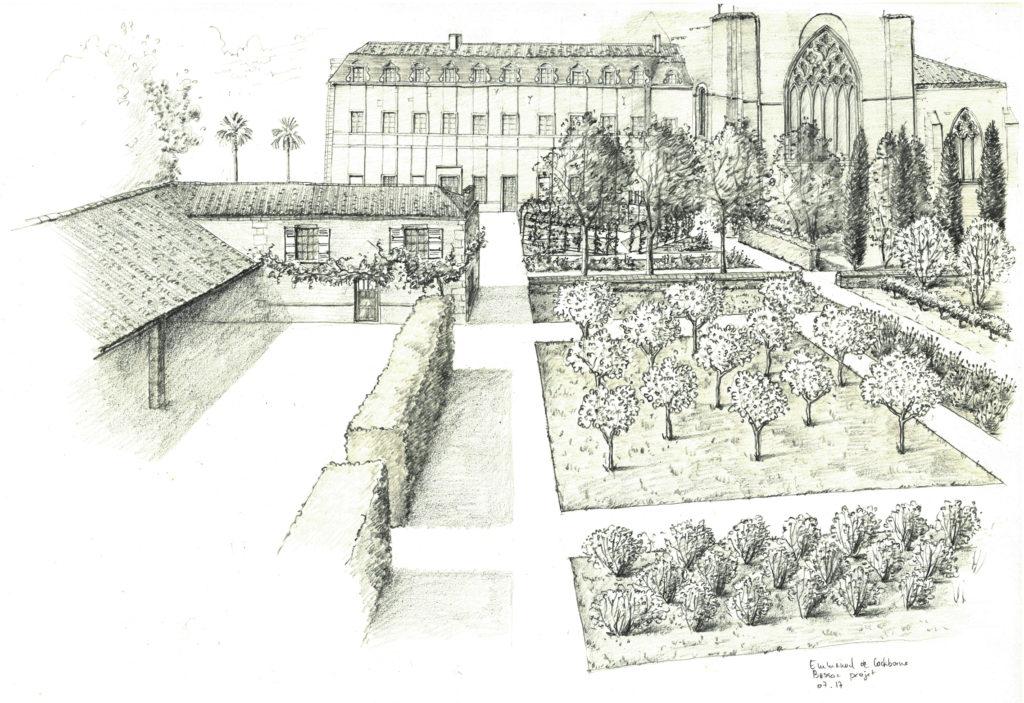 dessin abbaye de Bassac copie